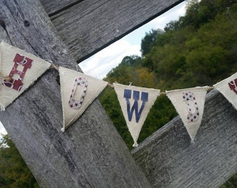 Handmade Western Pennant Banner