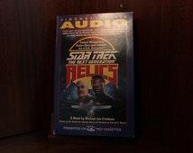 AUDIO BOOK on tape Star Trek the Next Generation RELICS