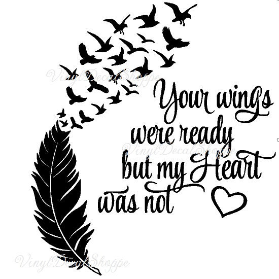 Snap Your Wings Were Ready But My Heart Was Not Car Decal Photos On