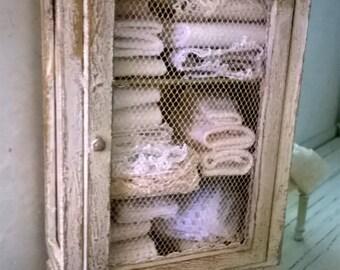 Miniature dollhouse Miniature linen closet LINEN CLOSET-
