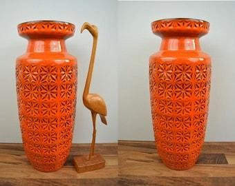 Vintage floor vase / Scheurich / Prisma / 261 53 | West Germany | WGP | 60s