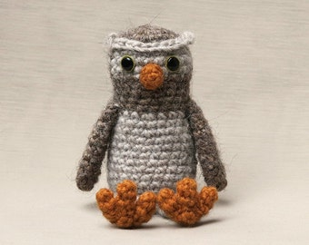 Realistic crochet owl amigurumi pattern