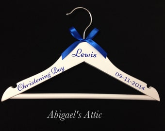Personalised Children's wooden hanger - Christening Gift