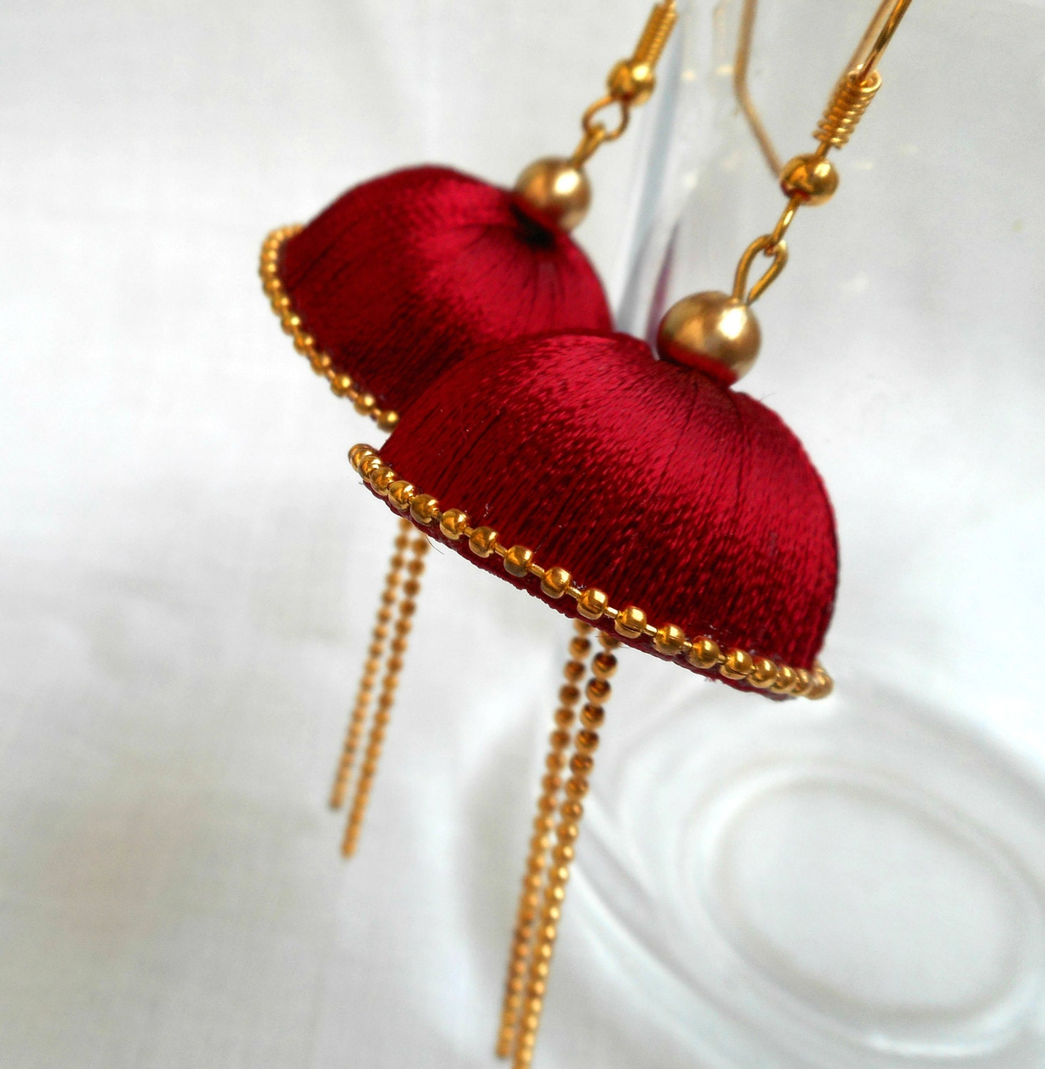 Thread Earrings Big Silk Thread Jhumka Chandelier Earrings