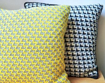 """Crochet Pattern Tunisian Zig Zag """"2-in-1"""" Pillowcase (digital file)"""