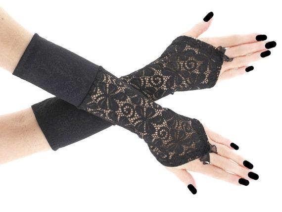 how to make gothic fingerless gloves