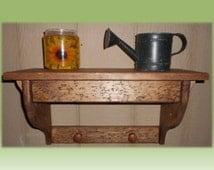Wood Wall Shelf Hidden Compartment Gun Shelf Cash Safe Jewelry Case