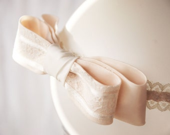 Baby Baptism Headband bow