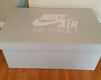XL Giant Trainer / Sneaker Storage Box, Nike Air Force One, handmade, personalised, gift for him, birthday present, gift, present