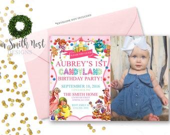 Candyland Birthday Party Invitation DIY PRINTABLE Customizable Digital Prints