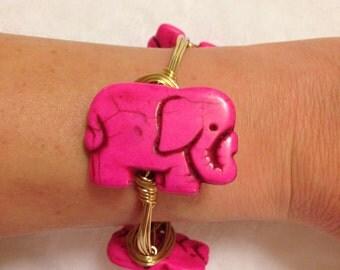 Pink Elephant Bangle
