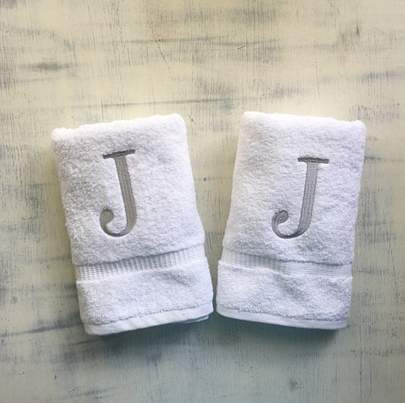 Monogram Towels For Bathroom: Monogrammed Hand Towel Monogrammed Bath Towels By