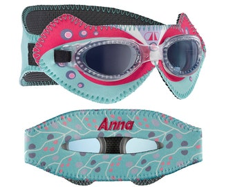 Personalized Giggly Goggles Butterfly swim goggles, the most fun & comfortable goggles! personalized with name, initials or team name