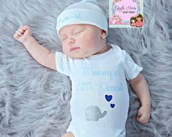 Newborn baby hat, boy monogram hat, boy hat, personalized baby gift, baby boy hat, newborn baby hat, personalized gift,  baby boy gift