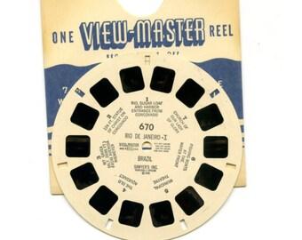 50's era View-Master reel, pristine condition: Reel #670, Rio De Janeiro-I