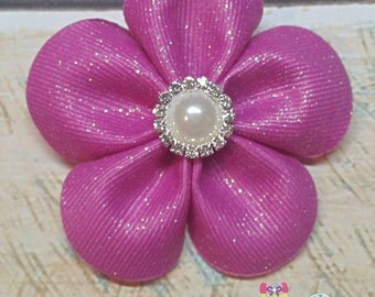 Pink Flower Hairclip