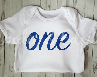 Blue Boys Baby One 1st Birthday Vest Baby Grow Babygrow Cake Smash Photo Prop