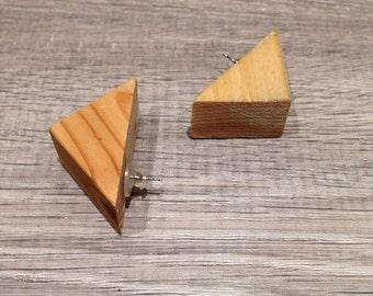 A N C E S T O R / Wooden block stud earrings.