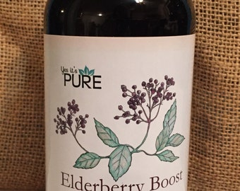 Organic Elderberry Syrup Boost ~Immune boost cold fighter flu support 8oz *FREE SHIPPING*