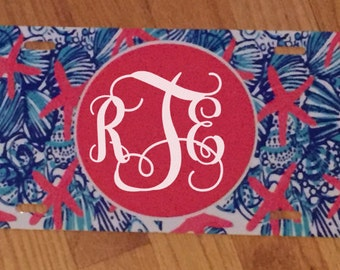 Personalized Monogram Lilly Pulitzer License Plate