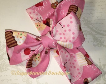 Pink cupcakes headwrap
