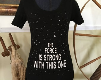 Star Wars Inspired- The Force is Strong With This One Maternity Tee