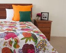 Kantha quilt, king kantha quilt, kantha quilt, quilts, vintage kantha quilt, picnic quilt, winter quilt