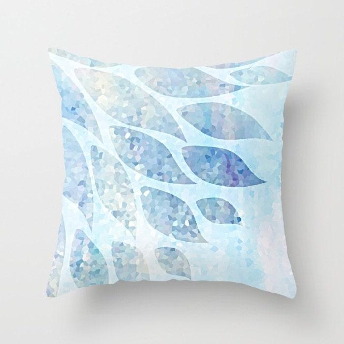 Blue And Lavender Throw Pillows : Blue Pillow Cover Floral Pillow Aqua Purple Throw Pillows