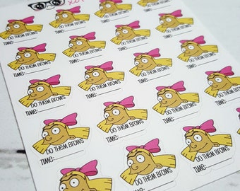 Do Them brows (HELGA) stickers for planners