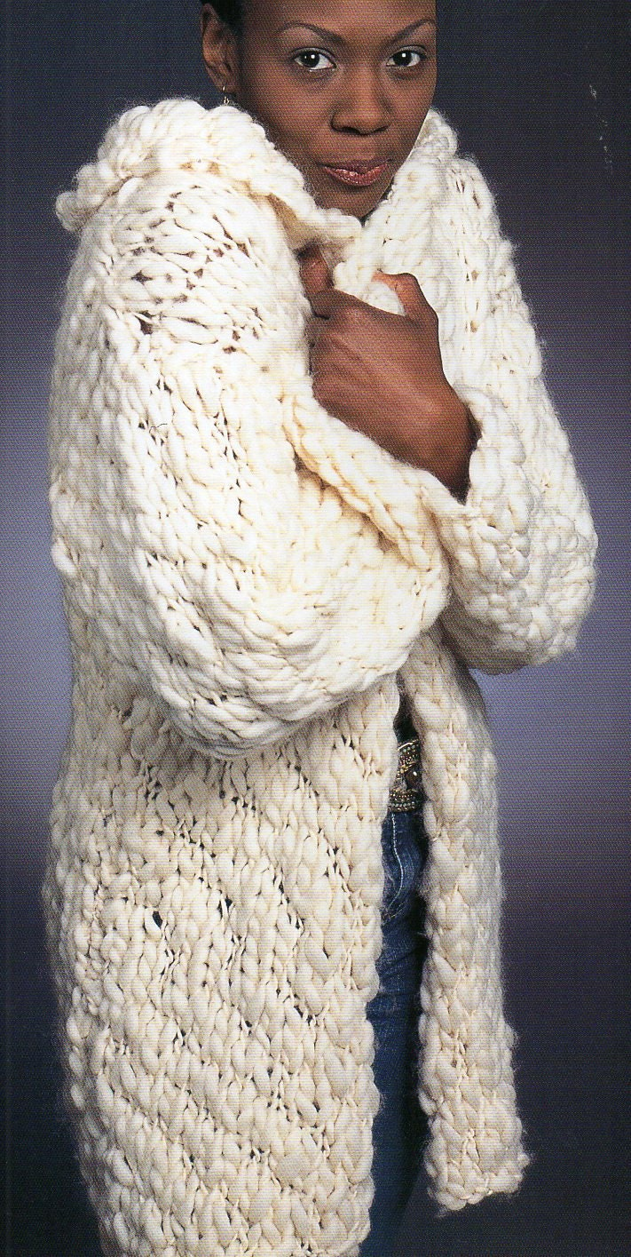 Knitting Pattern Sweater With Collar : Shawl Collar Sweater Jacket Knitting Pattern Long Cozy Jacket