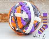 GHOULISH w/purple mini | ready-to-ship | 80/20% Superwash merino and nylon