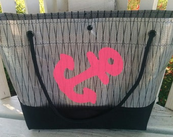 G Chava black and grey Sailcloth Tote