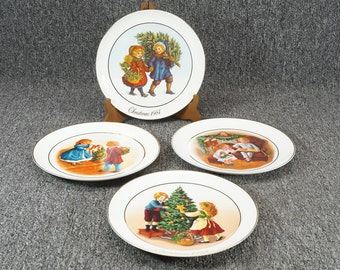 Vintage Avon Christmas Memories Collector's Plates 1981-1984