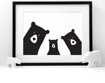 Bear Family Selfie