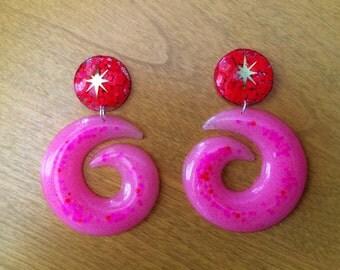 Atomic Swirl Hoop Earrings