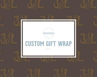 Custom Monogrammed Gift Wrapping Paper