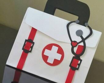 Doctor Favor Bag, Nurse Favor Bag, Doctor Bag, Nurse Bag, Medicine Bag, Healthcare Bag, Paramedic Bag - SMALL Size (set of 10)