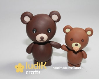 Bear father and son (FIMO)