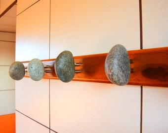 Coat Rack / Coat Hanger / Wall Hanger / Wall Hangings / porte-manteau en pierre / towel hooks / rock towel holder / towel hook wood hangers