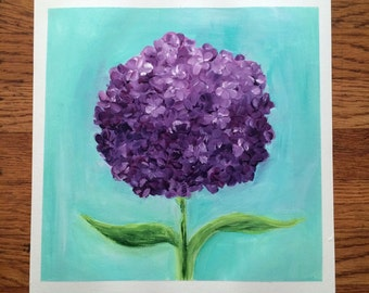 Prints of purple hydrangea