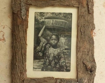 Rustic Bark Frame, Eco friendly, Natural, Woodland frame, Arts and crafts, Wood frame, Home decor, 7x5 Picture frame, Photo frame