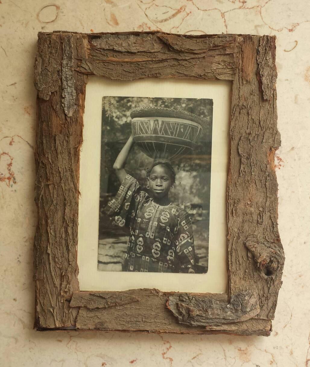 picture frame picture frame 5x7 bark frame tree bark. Black Bedroom Furniture Sets. Home Design Ideas