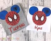Spiderman Shirt, Mouse Head Spiderman Shirt, Spiderman Birthday Shirt, Disney Vacation Shirt, Spiderman Mickey Mouse, Mickey Mouse Head