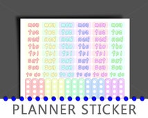 Planner Stickers - Printable Pastel Color Scheme Planner Stickers - Instant Download