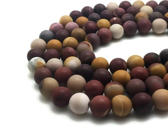 Round Natural Frosted Mookaite Beads Strand 6∼12mm Beads Mookaite Stone Mookaite Gemstone Mookaite Mala Mookaite Round Mookaite