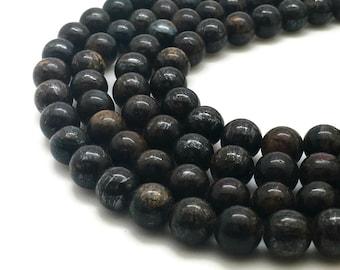 6mm Natural Bronzite Beads Round 6mm Bronzite 6mm Bronzite Beads Bronzite Stone Bronzite Gemstone Brown Stone Beads Round 6mm Beads