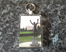 Rocky Statue Jumbo Keyring. Actual Location at Philadelphia Museum of Art