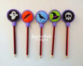ITH Set Of 5 Halloween Pencil Toppers (4x4)