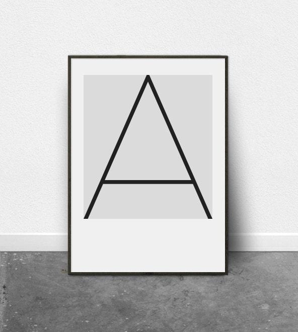 Alphabet letters wall art letters wall art prints wall art for Minimal art kunst