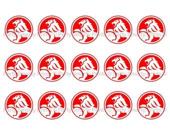 """Holden 1 Inch Round - Digital Download - Bottle Cap - Sticker - Bows - Holden Party - 4"""" x 6"""" Sheet"""